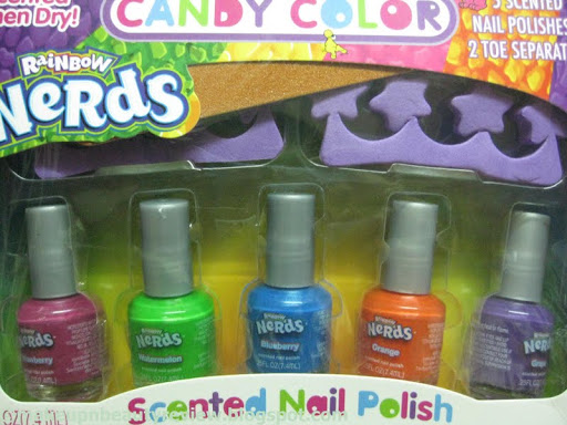 Nestle - Nerds Rainbow Candy color - The Yumm nail paints review ...