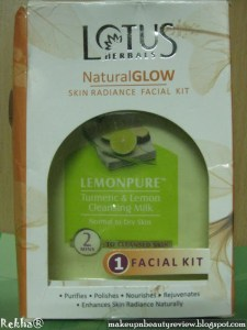Lotus Herbals - NaturalGLOW - Skin Radiance Facial Kit - Review