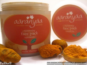 Aaranyaa – Rejuvenating Turmeric face pack – A Review!