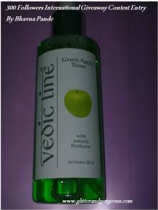 Vedic Line Green Apple Toner Review – Giveaway Contest Entry!